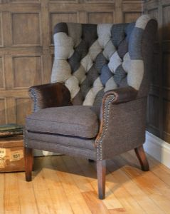 Tetrad Harris Tweed MacKenzie Patchwork Chair
